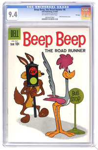 Beep Beep, The Road Runner #6 File Copy (Dell, 1960) CGC NM 9.4 Off-white to white pages. Daffy Duck back-up story. Over...