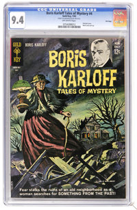 Boris Karloff Tales of Mystery #4 File Copy (Gold Key, 1963) CGC NM 9.4 Off-white pages. Painted cover. Back cover pin-u...