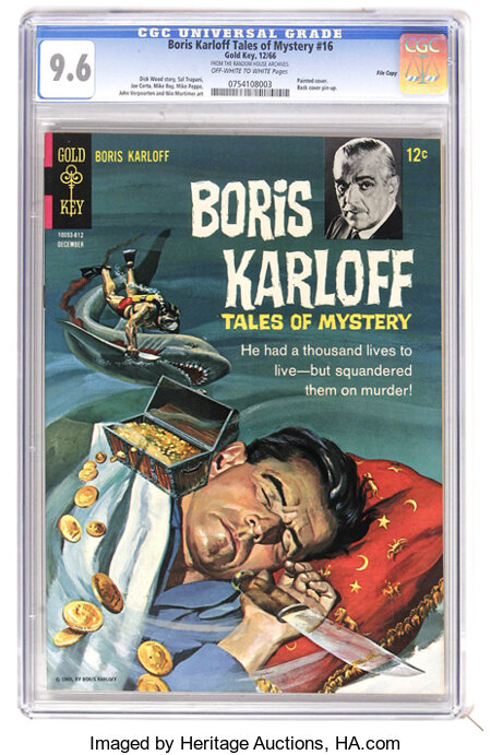 Boris Karloff Tales of Mystery #16 File Copy (Gold Key, 1966) CGC NM+ 9.6 Off-white to white pages. Painted cover. Back cove...