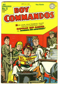 Boy Commandos #11 (DC, 1945) Condition: VG/FN. World War II-themed infinity cover. Overstreet 2006 VG 4.0 value = $80; F...