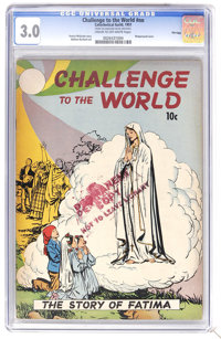 Challenge To The World #nn File Copy (Catechetical Guild, 1951) CGC GD/VG 3.0 Cream to off-white pages. Wraparound cover...