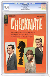 Checkmate #2 File Copy (Gold Key, 1962) CGC NM 9.4 White pages. Photo cover. Overstreet 2006 NM- 9.2 value = $70. CGC ce...
