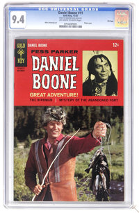 Daniel Boone #11 File Copy (Gold Key, 1967) CGC NM 9.4 Off-white to white pages. Photo cover. Mike Sekowsky art. Overstr...