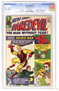 Silver Age (1956-1969):Superhero, Daredevil #1 (Marvel, 1964) CGC VG/FN 5.0 Off-white pages. Originand first appearance of Daredevil. First appearances of Ka...