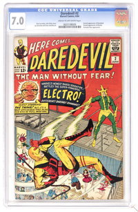 Daredevil #2 (Marvel, 1964) CGC FN/VF 7.0 Cream to off-white pages. Daredevil battles Electro, and both make their secon...