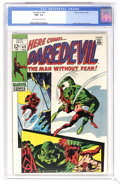 Silver Age (1956-1969):Superhero, Daredevil #49 (Marvel, 1969) CGC NM- 9.2 Off-white to white pages. First appearance of Starr Saxon. Gene Colan cover and art...