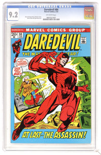 Daredevil #84 (Marvel, 1972) CGC NM- 9.2 Off-white pages. Gil Kane cover. Gene Colan and Syd Shores art. Overstreet 2006...
