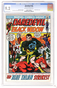 Daredevil #92 (Marvel, 1972) CGC NM- 9.2 Off-white to white pages. First issue to feature the Black Widow as co-star on...