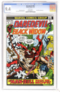 Bronze Age (1970-1979):Superhero, Daredevil #95 (Marvel, 1973) CGC NM 9.4 White pages. Daredevil takes on Man-Bull. Black Widow appearance. Gil Kane cover. Ge...