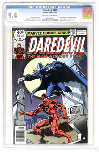 Daredevil #158 (Marvel, 1979) CGC NM 9.4 Off-white to white pages. Frank Miller's first issue as artist of this title. O...