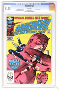 "Modern Age (1980-Present):Superhero, Daredevil #181 (Marvel, 1982) CGC NM/MT 9.8 White pages. ""Death"" ofElektra. Bullseye and Kingpin appearance. Punisher cameo..."