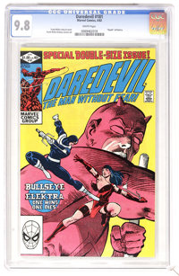 """Daredevil #181 (Marvel, 1982) CGC NM/MT 9.8 White pages. """"Death"""" of Elektra. Bullseye and Kingpin appearance..."""