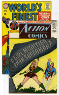 Silver Age (1956-1969):Miscellaneous, DC Superman Group (DC, 1965-70). Includes Action Comics #395 (art by Carmine Infantino and Curt Swan, NM) and World's ... (Total: 2 Comic Books)
