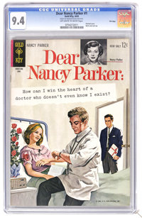 Dear Nancy Parker #1 File Copy (Gold Key, 1963) CGC NM 9.4 Off-white to white pages. Painted cover. Back cover pin-up. T...