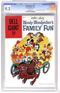 Dell Giants #24 Woody Woodpecker's Family Fun - File Copy (Dell, 1959) CGC NM- 9.2 Off-white pages. Walter Lantz art. Ov...