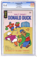 Bronze Age (1970-1979):Cartoon Character, Donald Duck #133 File Copy (Gold Key, 1970) CGC NM 9.4 Off-white towhite pages. Beagle Boys cover and story. This copy curr...