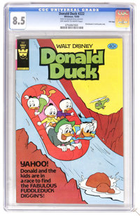 Donald Duck #222 File Copy (Whitman, 1980) CGC VF+ 8.5 Off-white to white pages. Very Low Distribution. Distributed in m...