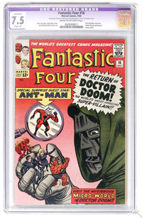 Fantastic Four #16 (Marvel, 1963) CGC Apparent VF- 7.5 Cream to off-white pages. First Ant-Man crossover. Doctor Doom ap...