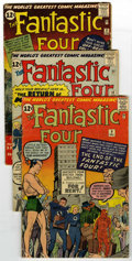Silver Age (1956-1969):Superhero, Fantastic Four #9-13 Group (Marvel, 1961-62) Condition: AverageVG-. This awesome run of early, key Fantastic Four issue... (Total:5 Comic Books)
