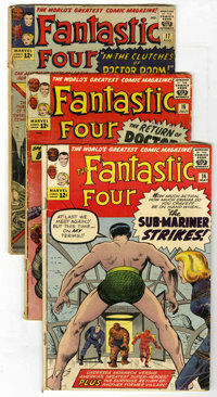 Fantastic Four #14-21 Group (Marvel, 1963) Condition: FR/GD. Includes #14 (Sub-Mariner crossover), 15 (first appearance...
