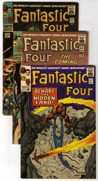 Fantastic Four #47-50 Group (Marvel, 1966). Included are #47 (FN/VF), 48 (partial origin and first appearances of Silver...