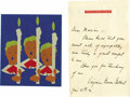 Movie/TV Memorabilia:Memorabilia, Virginia Bruce Gilbert Condolence Letter and Christmas Card. Thedownfall of matinee idol John Gilbert as the most catastrop...(Total: 1 Item)