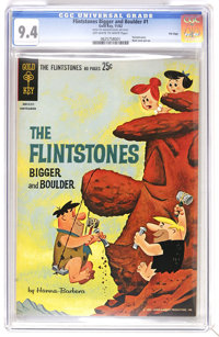 The Flintstones Bigger and Boulder #1 File Copy (Gold Key, 1962) CGC NM 9.4 Off-white to white pages. 80 pages. Painted...