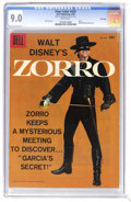 Silver Age (1956-1969):Adventure, Four Color #933 Zorro - File Copy (Dell, 1958) CGC VF/NM 9.0 White pages. Guy Williams photo cover. Alex Toth art. Overstree...