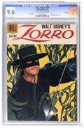 Silver Age (1956-1969):Adventure, Four Color #976 Zorro - File Copy (Dell, 1959) CGC VF/NM 9.0 Off-white to white pages. Featuring Zorro. Photo cover. Alex To...
