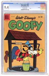 Four Color #987 Goofy - File Copy (Dell, 1959) CGC NM 9.4 Off-white pages. Currently tied for the highest CGC grade. Ove...