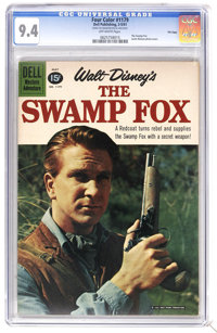 Four Color #1179 The Swamp Fox - File Copy (Dell, 1961) CGC NM 9.4 Off-white pages. Leslie Nielson photo cover. Based on...