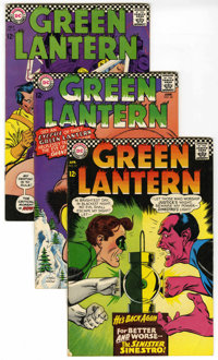 Green Lantern #52-64 Group (DC, 1967-68) Condition: VG/FN. Includes #52 (Golden Age Green Lantern crossover), 53, 54, 55...