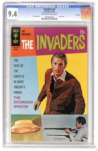 The Invaders #4 File Copy (Gold Key, 1968) CGC NM 9.4 Off-white to white pages. Photo cover. Dan Spiegle art. Overstreet...