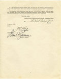 Movie/TV Memorabilia:Documents, Darryl Zanuck Signed Options Agreement. A seven-page OptionAgreement between Darryl F. Zanuck and the Twentieth Century-Fox...(Total: 1 Item)