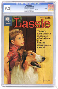 Lassie #49 File Copy (Dell, 1960) CGC NM- 9.2 Off-white to white pages. Photo cover. Overstreet 2006 NM- 9.2 value = $60...