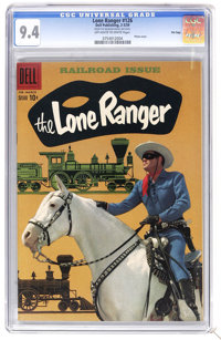 The Lone Ranger #126 File Copy (Dell, 1959) CGC NM 9.4 Off-white to white pages. Photo cover. Overstreet 2006 NM- 9.2 va...