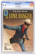 Silver Age (1956-1969):Western, The Lone Ranger #142 File Copy (Dell, 1961) CGC NM 9.4 Off-white towhite pages. Photo cover. Overstreet 2006 NM- 9.2 value ...