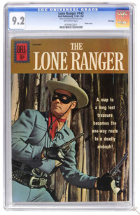 The Lone Ranger #143 File Copy (Dell, 1961) CGC NM- 9.2 Off-white pages. Photo cover. Overstreet 2006 NM- 9.2 value = $1...