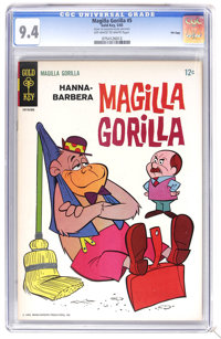 Magilla Gorilla #5 File Copy (Gold Key, 1965) CGC NM 9.4 Off-white to white pages. Overstreet 2006 NM- 9.2 value = $80...