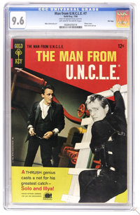 Man from U.N.C.L.E. #7 File Copy (Gold Key, 1966) CGC NM+ 9.6 Off-white to white pages. First appearance of Jet Dream. P...