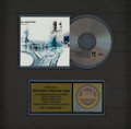 "Music Memorabilia:Awards, Radiohead ""OK Computer"" RIAA Gold CD Award. Presented to Record& Tape Traders to commemorate the sale of more than 500,000 ...(Total: 1 Item)"
