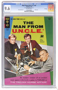 Man from U.N.C.L.E. #10 File Copy (Gold Key, 1967) CGC NM+ 9.6 Off-white pages. Photo cover. Mike Sekowsky art. Overstre...