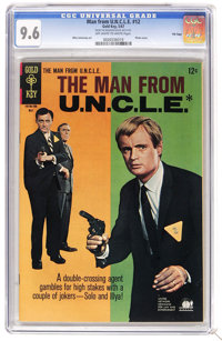 Man from U.N.C.L.E. #12 File Copy (Gold Key, 1967) CGC NM+ 9.6 Off-white to white pages. Photo cover. Mike Sekowsky inte...