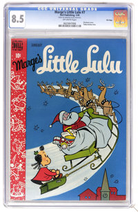Marge's Little Lulu #7 File Copy (Dell, 1949) CGC VF+ 8.5 Off-white pages. First appearance of Annie. Christmas cover. T...