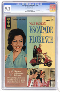 Escapade in Florence #nn - File Copy (Gold Key, 1963) CGC NM- 9.2 Off-white to white pages. Based on the Disney movie. A...