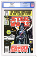Modern Age (1980-Present):Science Fiction, Star Wars #39 (Marvel, 1980) CGC NM+ 9.6 Off-white to white pages.Part one of Empire Strikes Back movie adaptation. Al ...