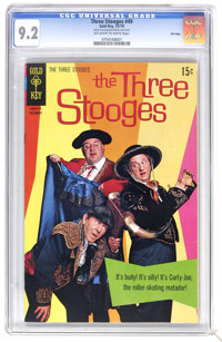 Three Stooges #49 File Copy (Gold Key, 1970) CGC NM- 9.2 Off-white to white pages. Photo cover. Overstreet 2006 NM- 9.2...