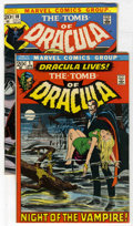 Bronze Age (1970-1979):Horror, Tomb of Dracula #1 and 10 Group (Marvel, 1972-73). Consists of #1(first appearance of Dracula and Frank Drake, Neal Adams c...(Total: 2 Comic Books)