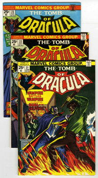 Tomb of Dracula Group (Marvel, 1974-76) Condition: Average FN/VF. Includes #21, 22, 23, 24, #25 (first appearance of Han...