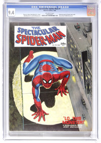Spectacular Spider-Man #1 (Marvel, 1968) CGC NM 9.4 Off-white pages. John Romita Sr. cover. Romita and Jim Mooney art. U...